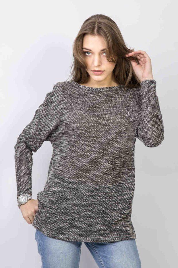 свитер серый свободный