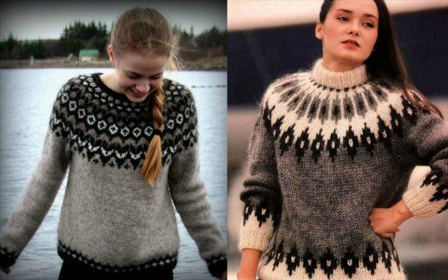 тренды осень зима 2019: свитера шерстяные теплые с узорами