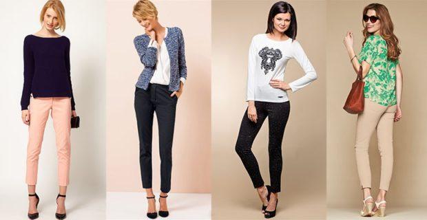укороченные брюки с чем носить с кофтой жакетом рубашкой