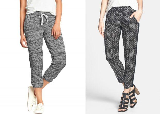укороченные брюки с чем носить низкий ход под каблук