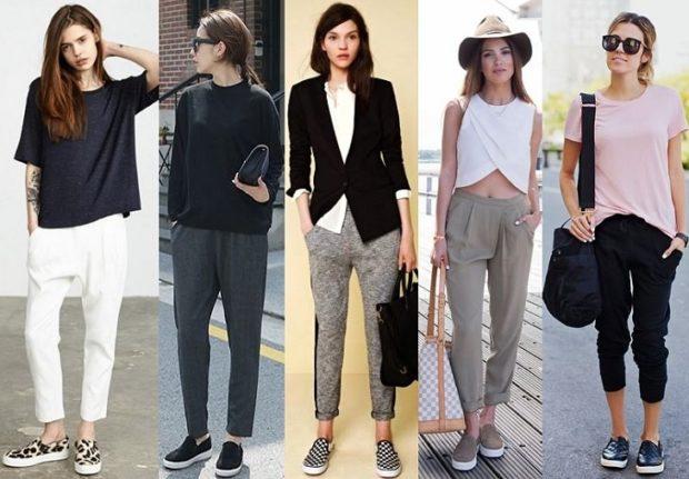 укороченные брюки с чем носить брюки короткие под кеды