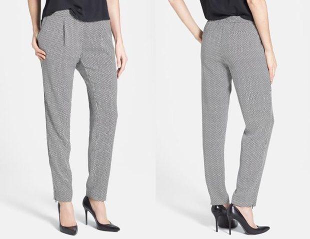 укороченные брюки с чем носить штаны короткие под каблук
