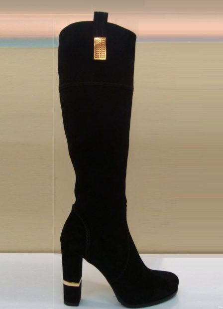 зимняя женская обувь 2018 замшевая на каблуке