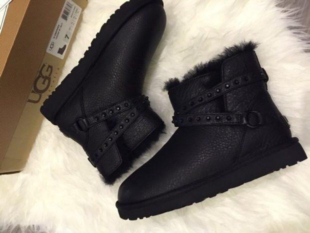 женская обувь осень-зима 2018-2019: угги зимние короткие с ремешком