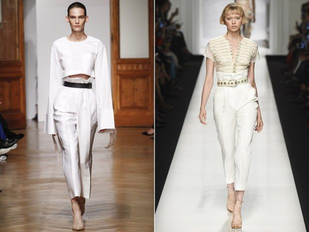 Белые брюки женские: короткие под под кофту короткую под футболку