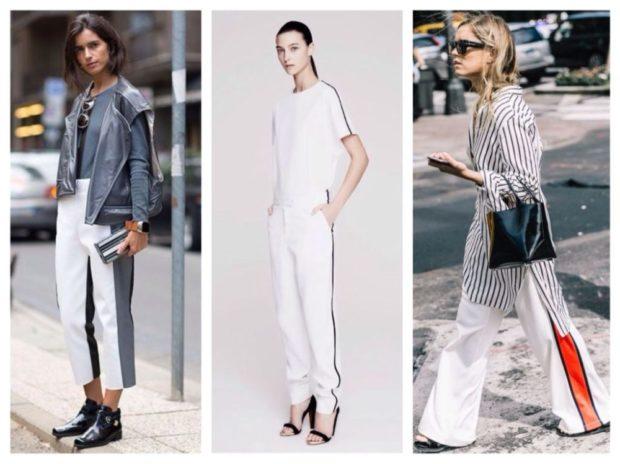 Белые брюки женские: под ботинки низкий ход туфли на каблуке балетки