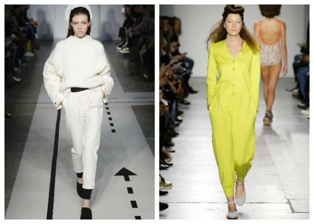 Брюки весна лето 2019: белые желтые короткие