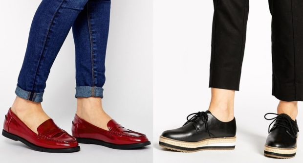 с чем носить женские слипоны: красные черные на тонкой подошве