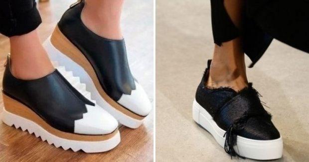 с чем носить женские слипоны: кожаные разных цветов черны с белым