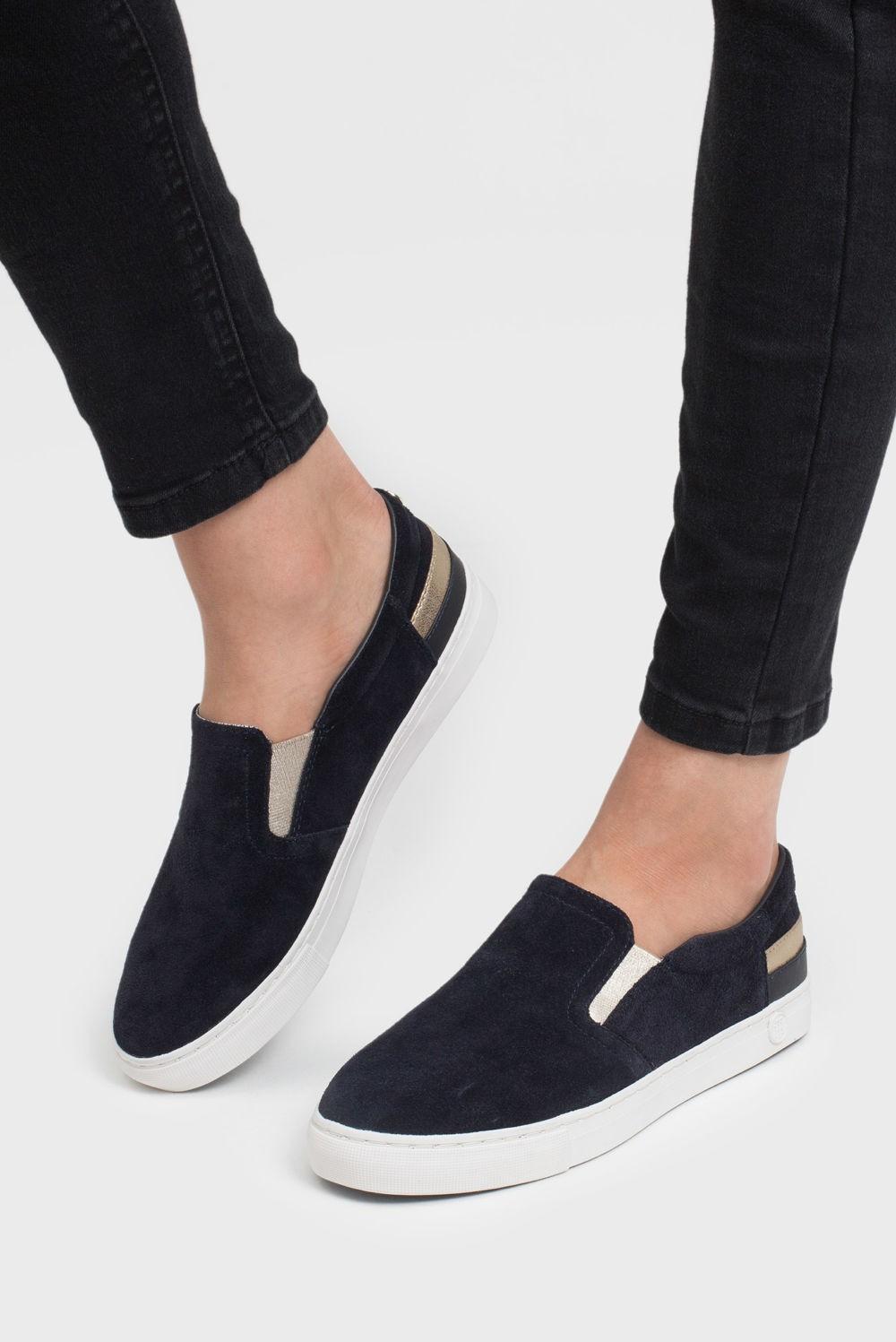 Слипоны женские с чем носить: черные под штаны длинные