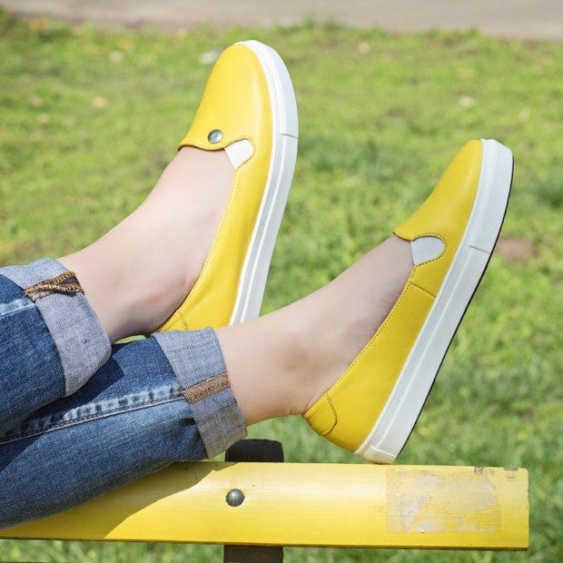 Слипоны женские фото с чем носить на тонкой подошве под джинсы
