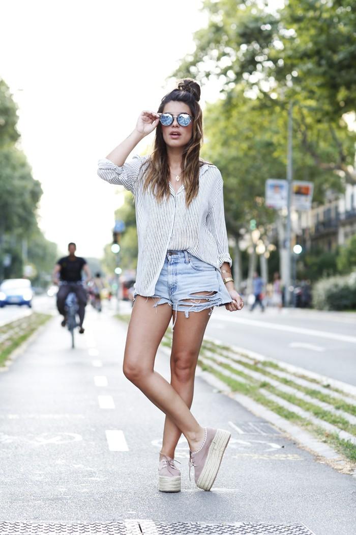 Слипоны женские фото с чем носить: на толстой подошве под шорты джинсовые