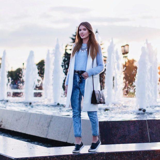 Слипоны женские фото с чем носить: темные под джинсы короткие