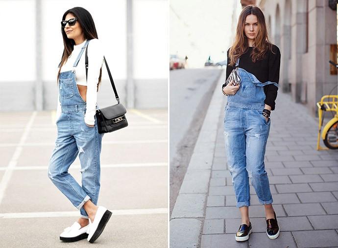 Слипоны женские фото с чем носить: на толстой подошве под комбинезоны