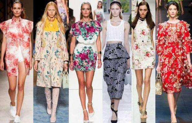 Модные образы весна лето 2018: платья в цветы лето-весна