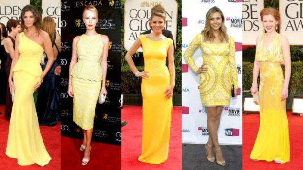 Модные образы весна лето 2018: желтые платья впол миди короткое