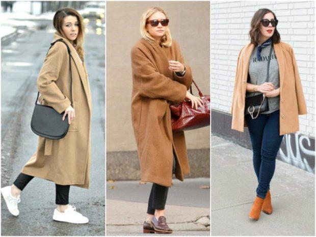 Модные образы весна лето 2018: пальто бежевое оверсайз корткое
