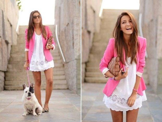 Модные образы весна лето 2018: жакет розовый