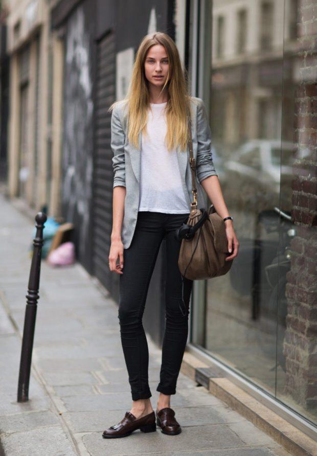 джинсы черные прямые