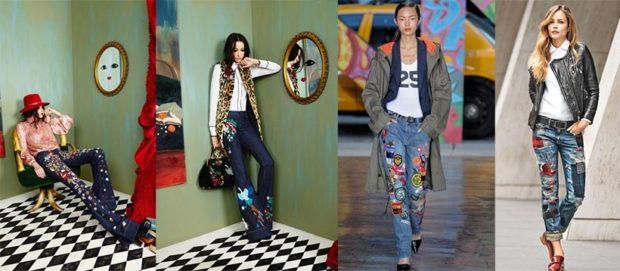 Модные образы весна лето 2018: джинсы клеш цветами