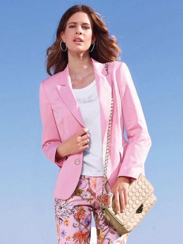 Модные пиджаки осень зима 2019-2020: розовый классика