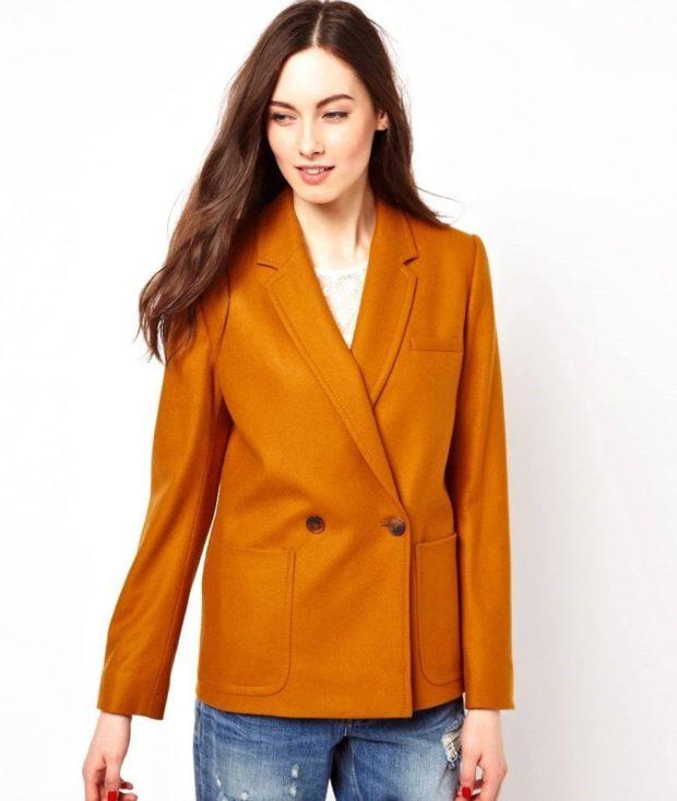 Модные пиджаки осень зима 2019-2020: горчичный оверсайз