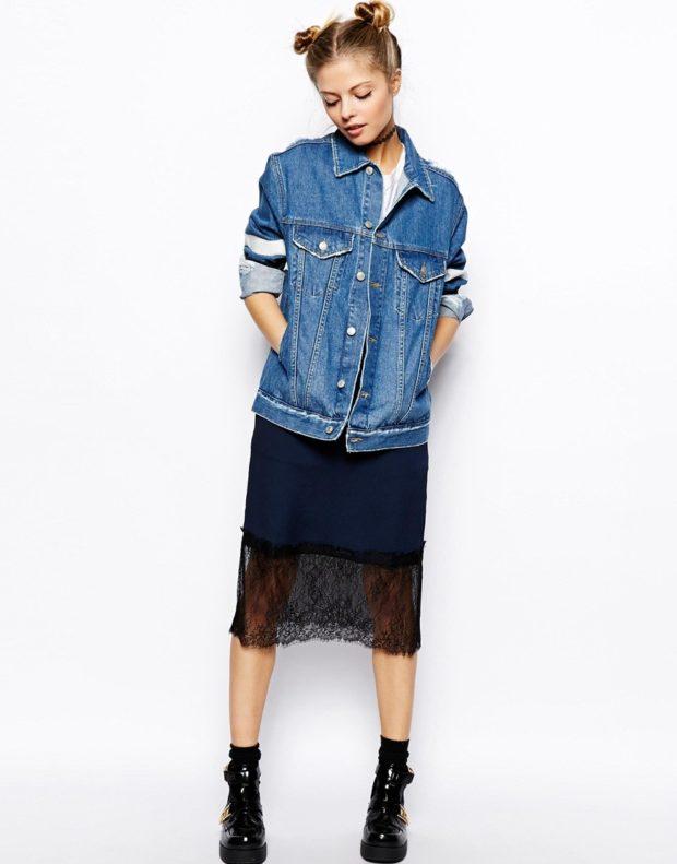 Модные пиджаки осень зима: из денима