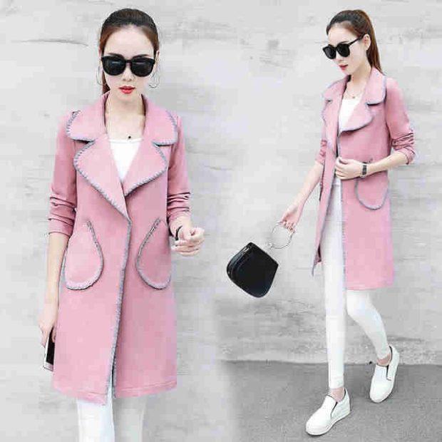 модные пиджаки осень зима 2018 2018: пиджак удлиненный розовый