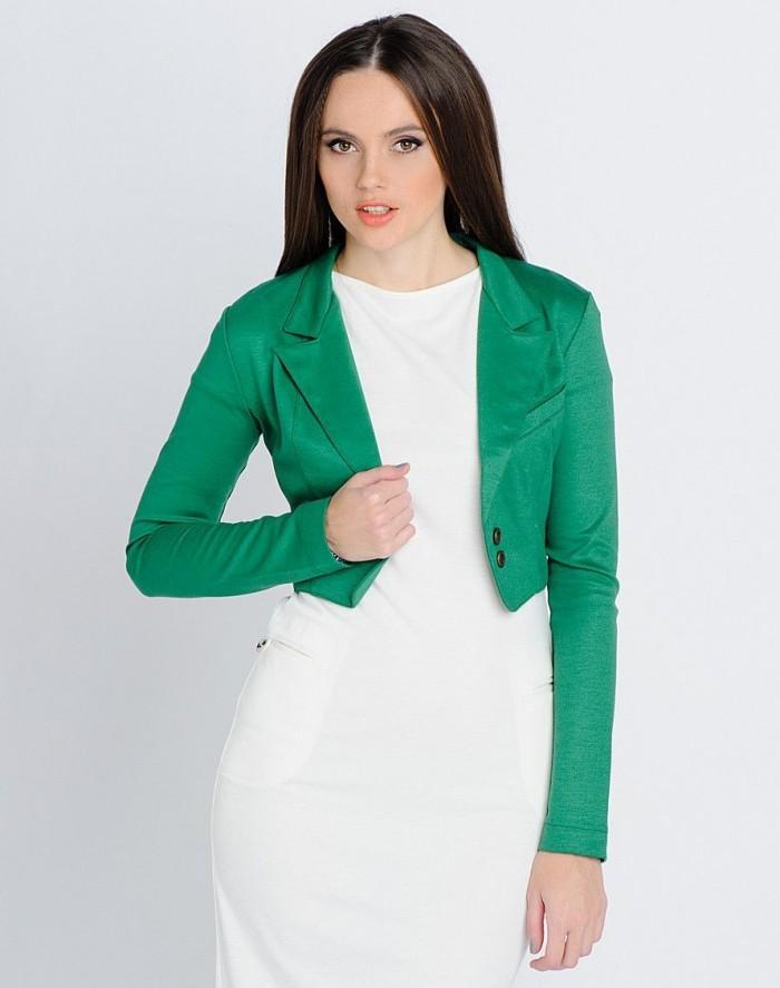 модные пиджаки осень зима 2018 2018: пиджак короткий зеленый