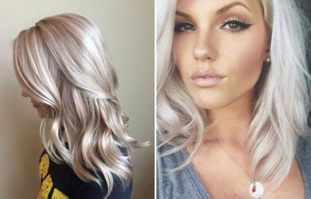 Модный цвет волос 2018: блонд с розовым оттенком