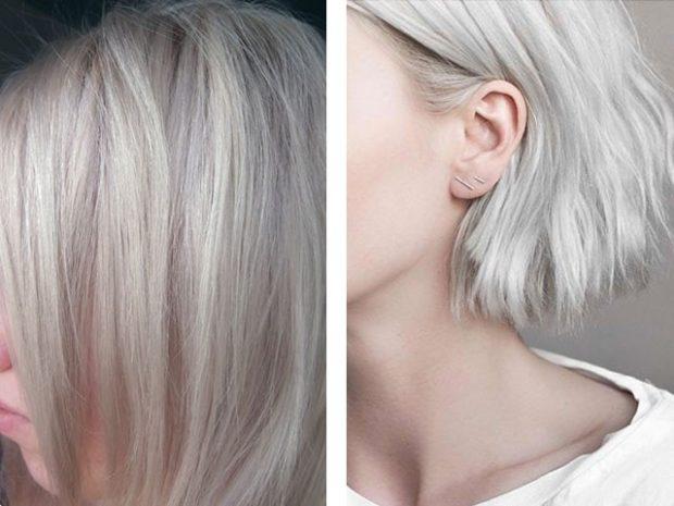 Модный цвет волос 2018:холодный блонд