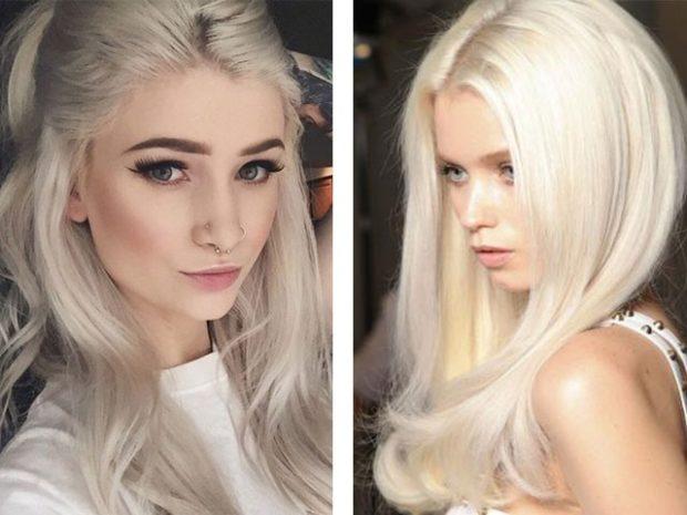 модный цвет волос 2020 года: холодный блонд