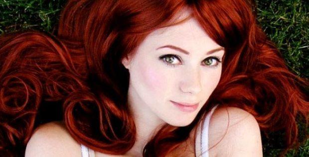 цвет волос: рыжий насыщенный
