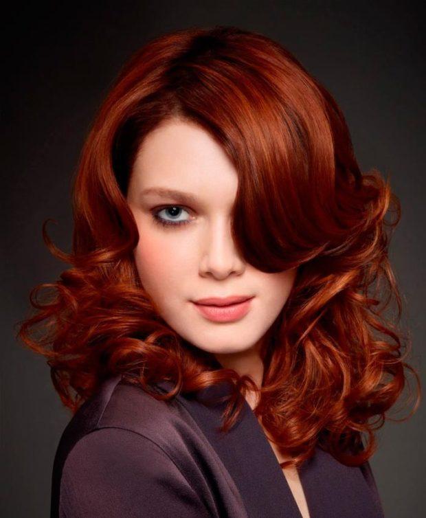 цвет волос: рыжий насыщенный натуральный