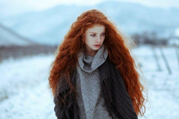 Модный цвет волос 2018: рыжий натуральный