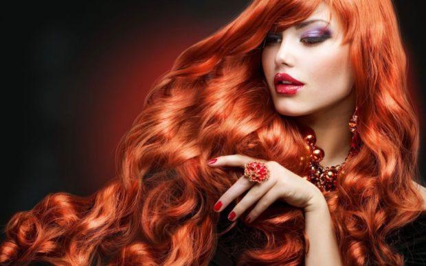модный цвет женских волос: рыжий насыщенный натуральный