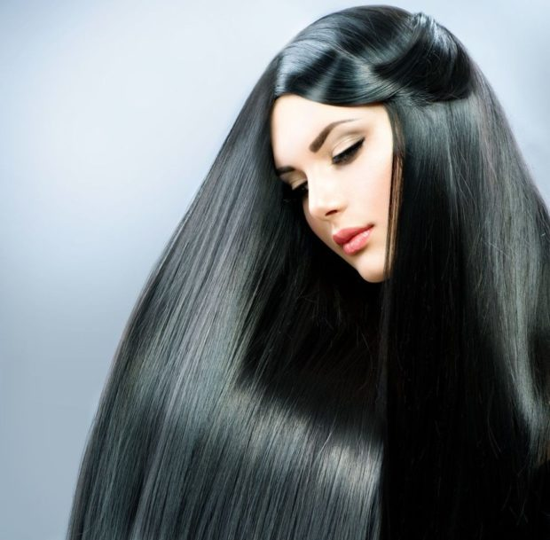 цвет волос: черный глубокий
