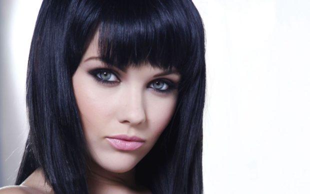 цвет волос: черный под натуральный