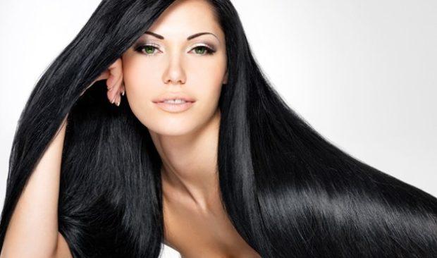 Модный цвет волос 2018: черный глубокий цвет