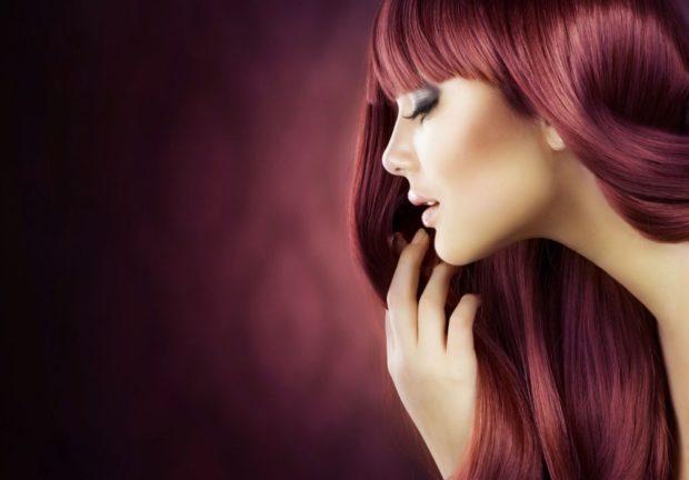 Модный цвет волос 2018: цвет вишня светлая