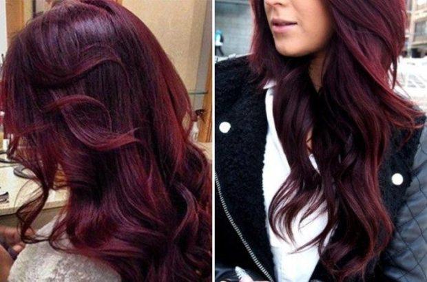 Модный цвет волос 2018: цвет вишня насыщенный