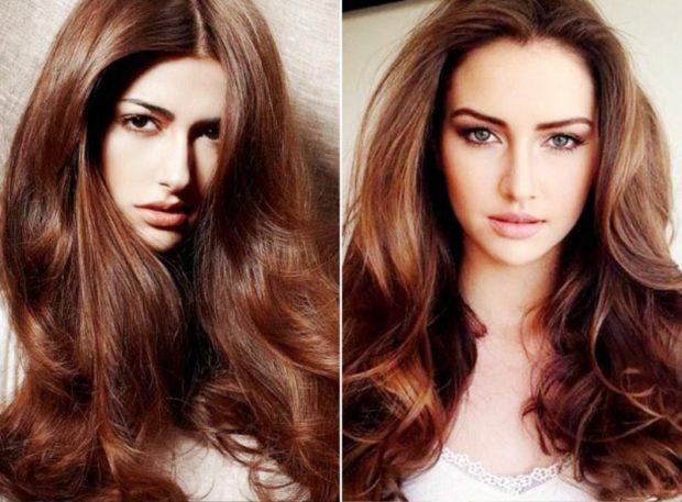 модный цвет волос 2020-2021: шоколад натуральный