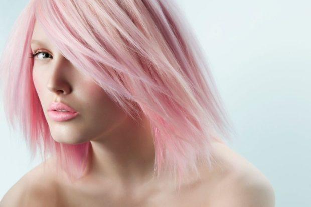 Модный цвет волос 2018: розовый волос нежное мроженое