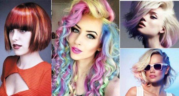 модный цвет волос 2018: цветные волосы