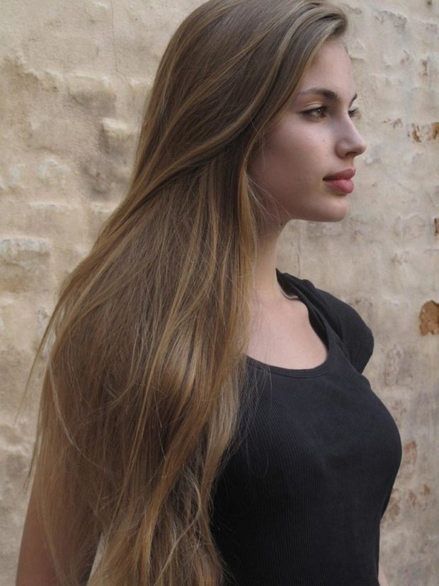 волосы русые натуральные