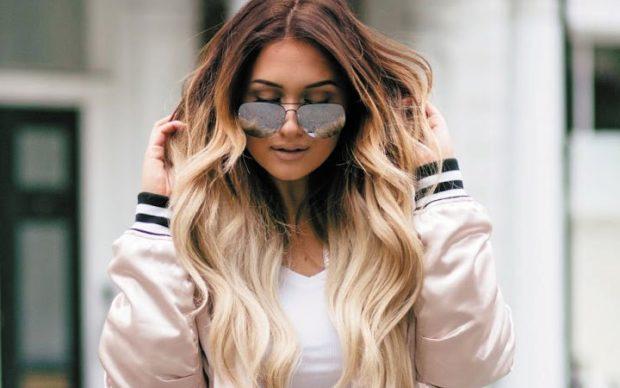 Модный цвет волос 2018: омбре светлое на длинные волосы