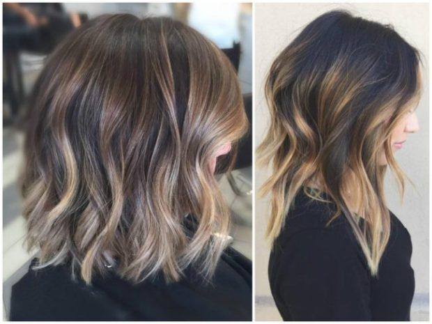 Модный цвет волос 2018: шатуш на темные волосы