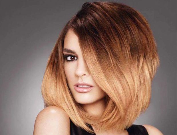 Модный цвет волос 2018: милирование стильное рыжее