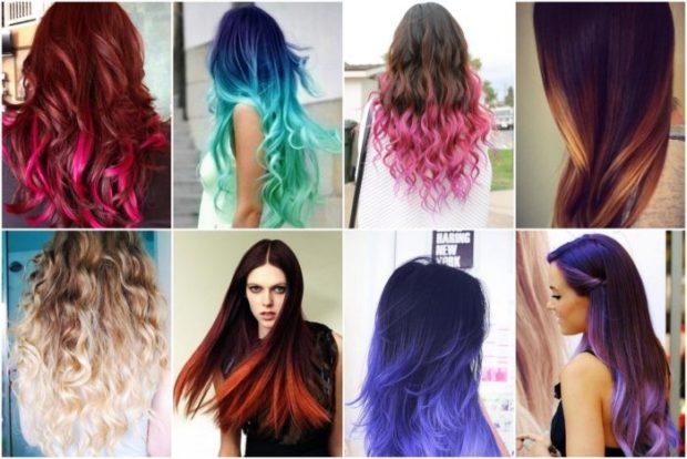 модный цвет волос 2020-2021: яркое омбре