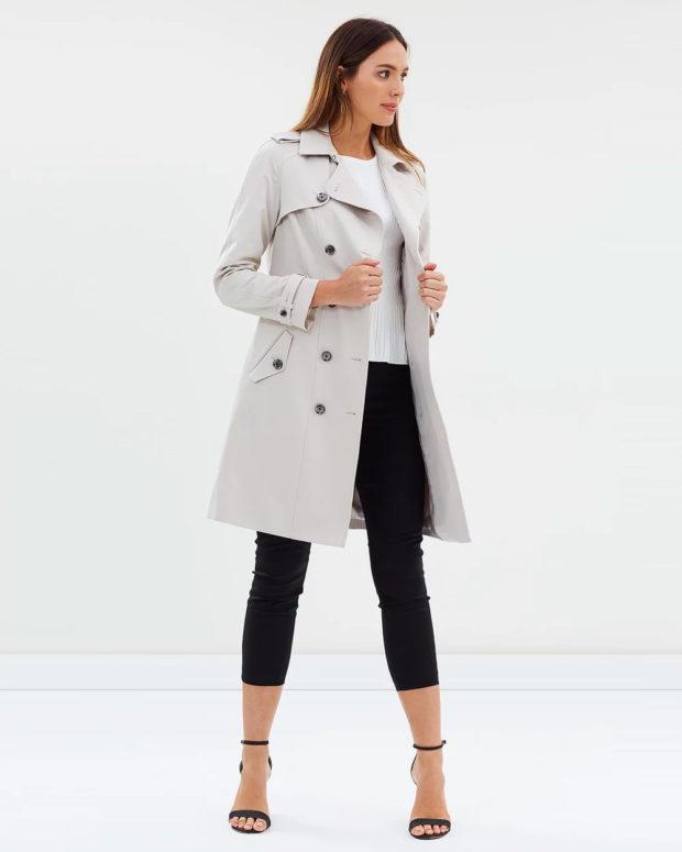 Модные образы весна лето 2021: пальто белое